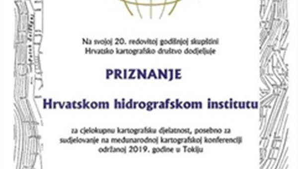 HHI receives recognition by the Croatian Cartographic Society